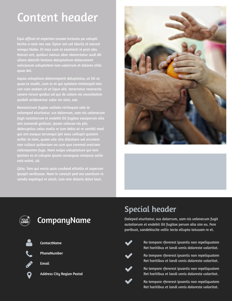 Food Pantry Flyer Template Preview 3