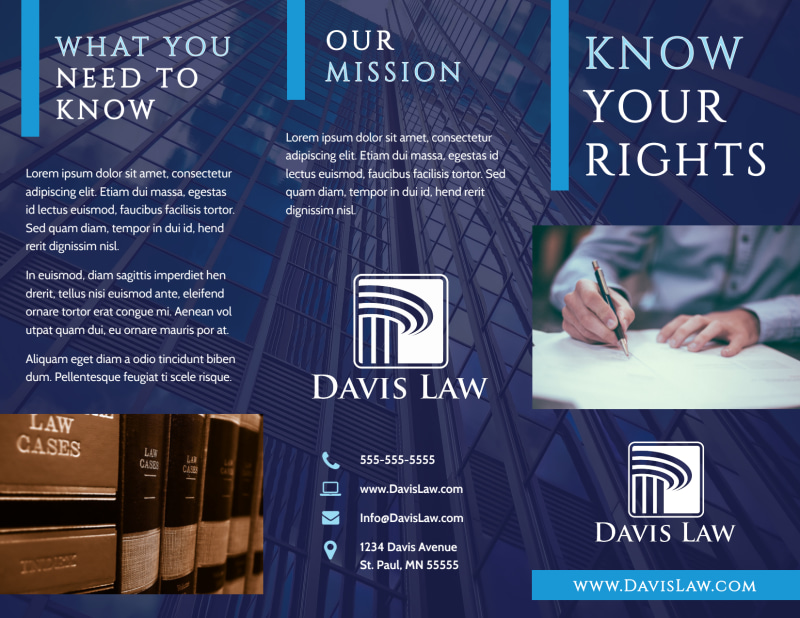 Lawyer Law firm Brochure Template Preview 2