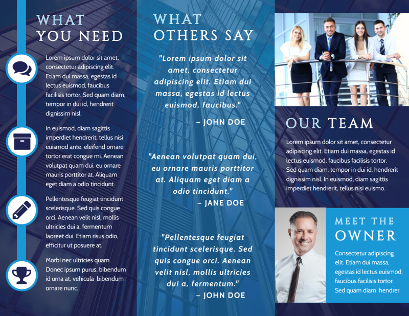 Lawyer Law firm Brochure Template Preview 3