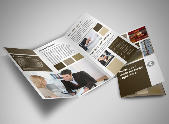 Law Firm Brochure Template Lawyer Law Firm Tri Fold Brochure