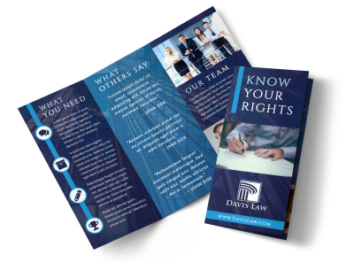 Lawyer Law firm Tri-Fold Brochure Template preview