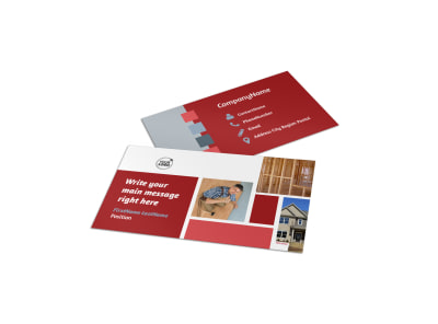 Home Remodeling Business Card Template