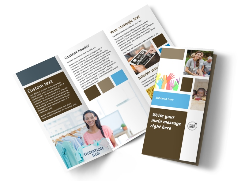Food Pantry Tri-Fold Brochure Template