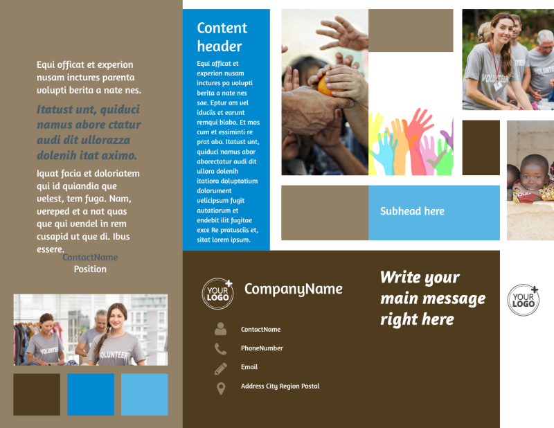 Food Pantry Brochure Template Preview 2