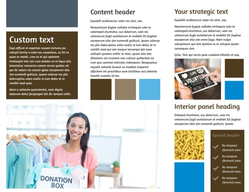 Food Pantry Brochure Template Preview 3