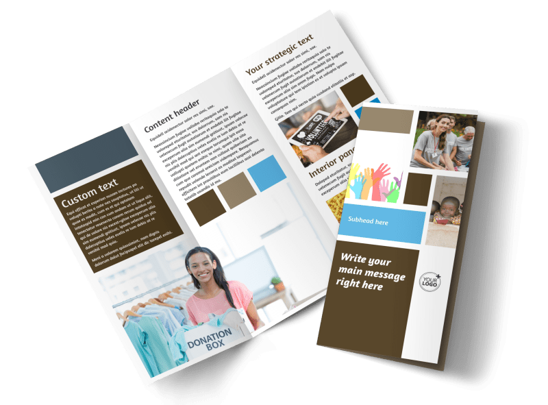 Food Pantry Brochure Template Preview 1