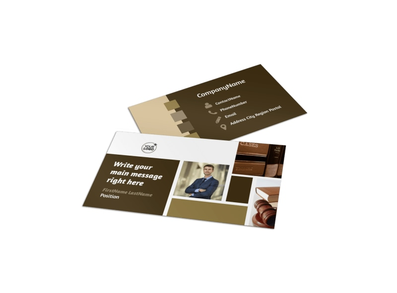 Lawyer Law Firm Business Card Template  Mycreativeshop