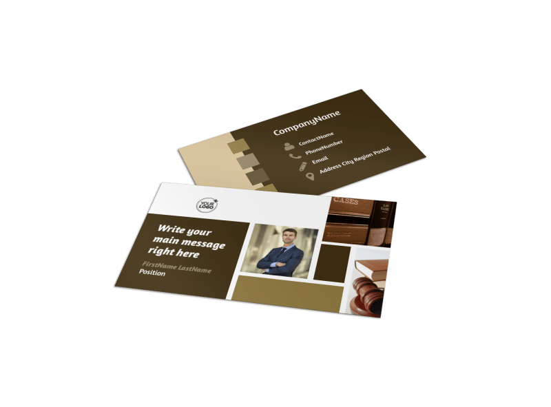 Lawyer Law firm Business Card Template Preview 1