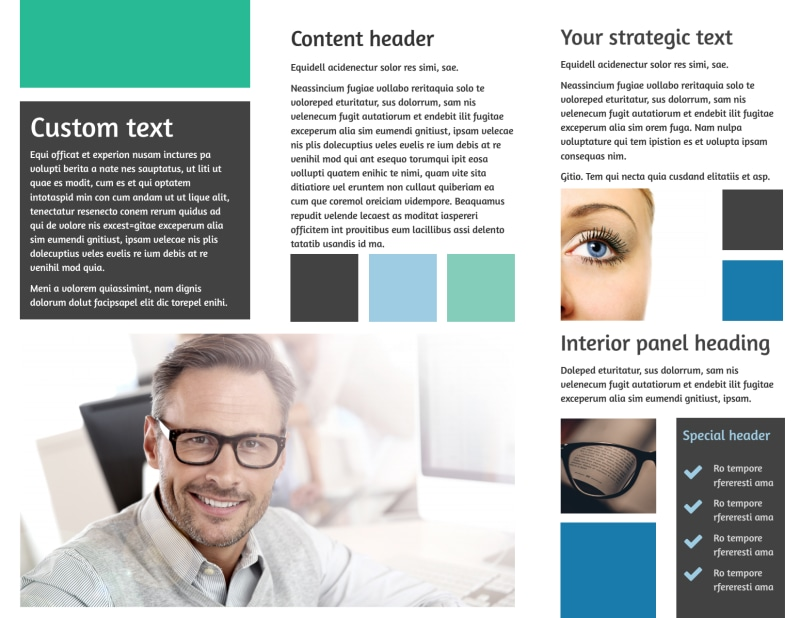 Laser Vision Brochure Template Preview 3