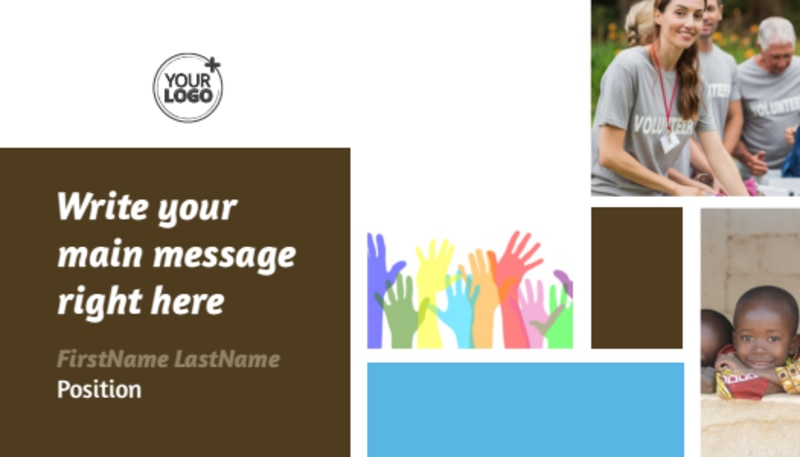 Food Pantry Business Card Template Preview 2