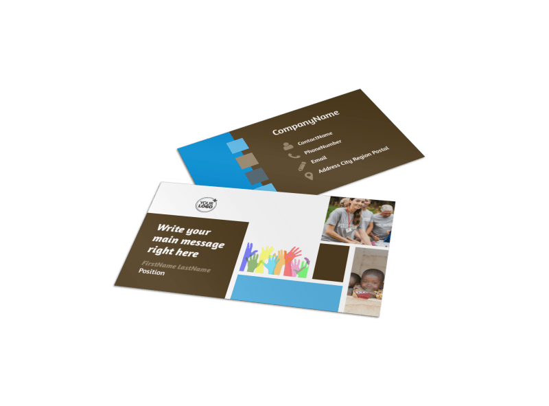 Food Pantry Business Card Template Preview 1