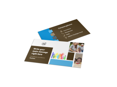 Food Pantry Business Card Template preview
