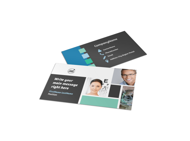 Laser Vision Business Card Template Preview 1