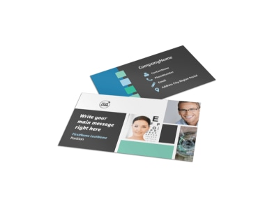 Laser Vision Business Card Template preview