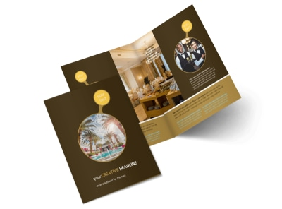 luxury hotel bi fold brochure template 2