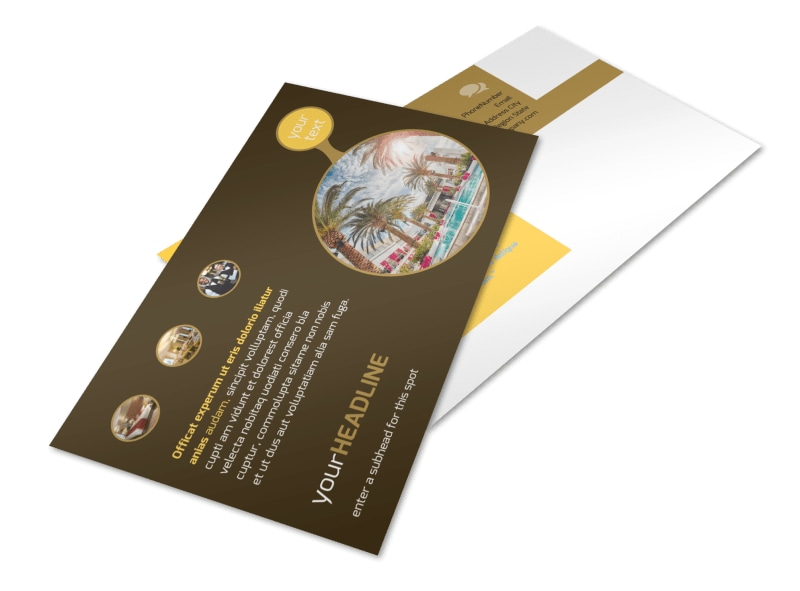 Luxury Hotel Postcard Template 2
