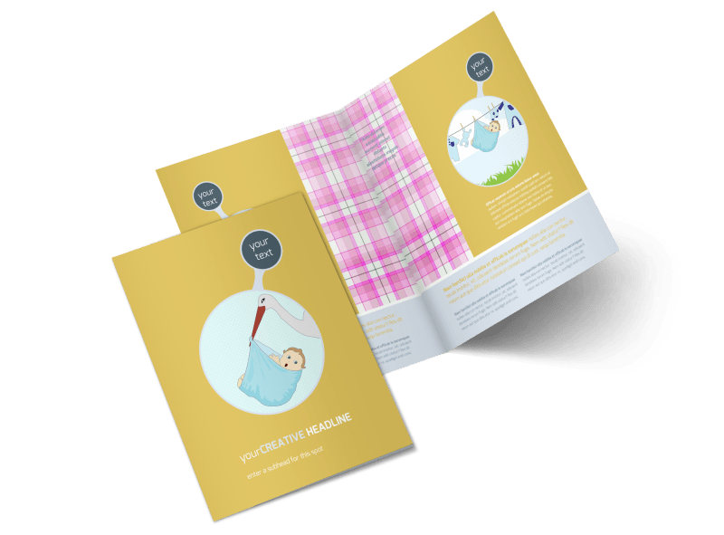 Baby Shower Brochure Template Preview 1