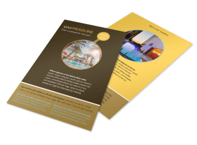 Luxury Hotel Flyer Template 3