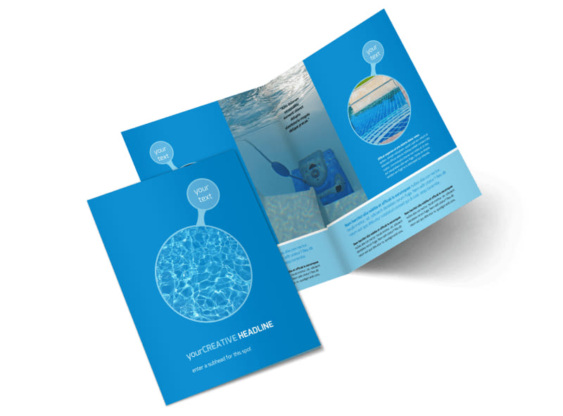 Residential Pool Cleaning Bi-Fold Brochure Template 2