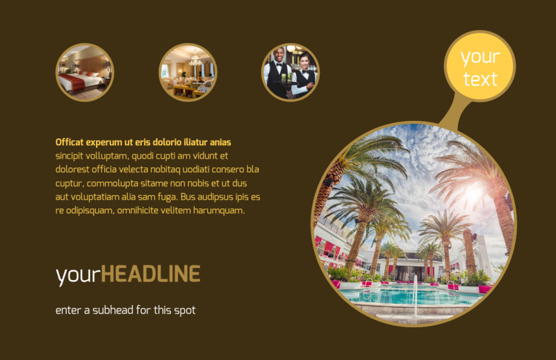 Luxury Hotel Postcard Template Preview 2