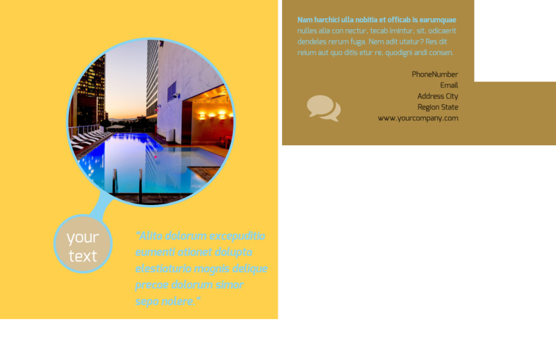 Luxury Hotel Postcard Template Preview 3