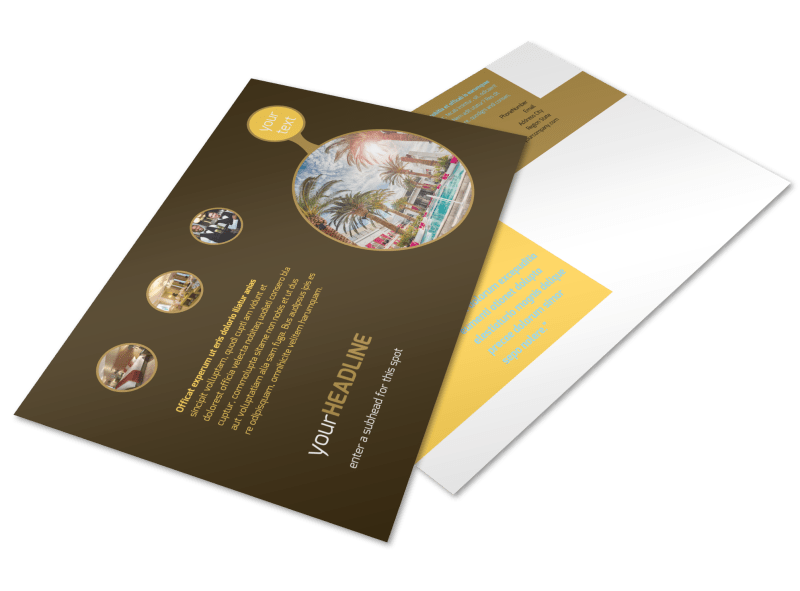 Luxury Hotel Postcard Template Preview 1