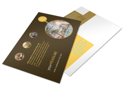 Luxury Hotel Postcard Template preview
