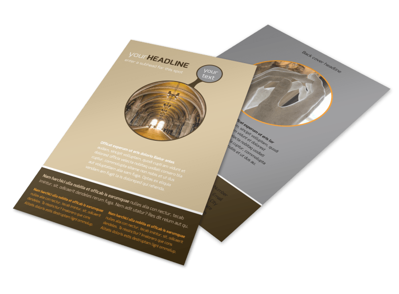 Art Museum Flyer Template Preview 1