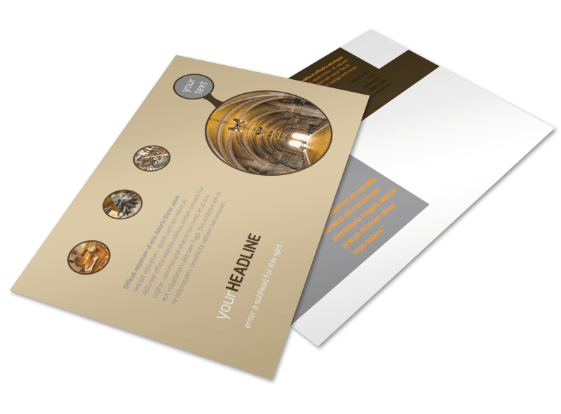 Art Museum Postcard Template Preview 1