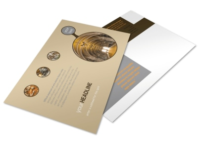 Art Museum Postcard Template preview