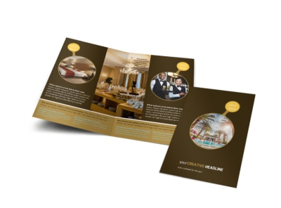 Luxury Hotel Bi-Fold Brochure Template