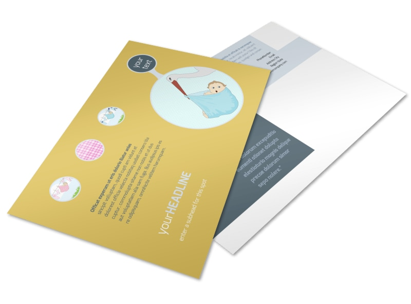 Baby Shower Postcard Template Preview 4
