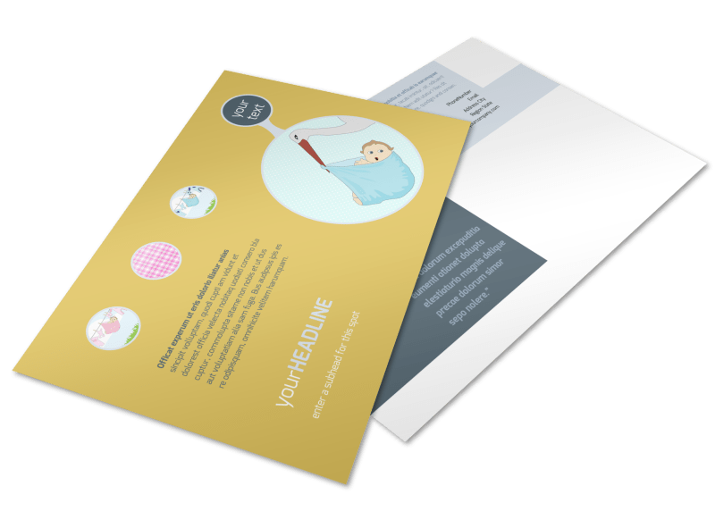Baby Shower Postcard Template Preview 1