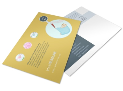 Baby Shower Postcard Template preview