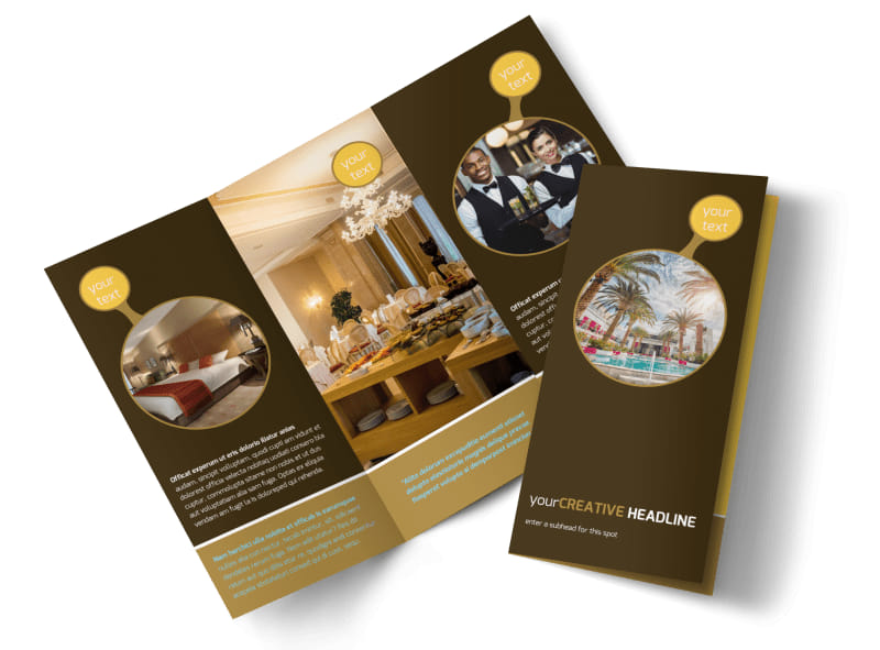 hotel brochure templates - luxury hotel brochure template mycreativeshop