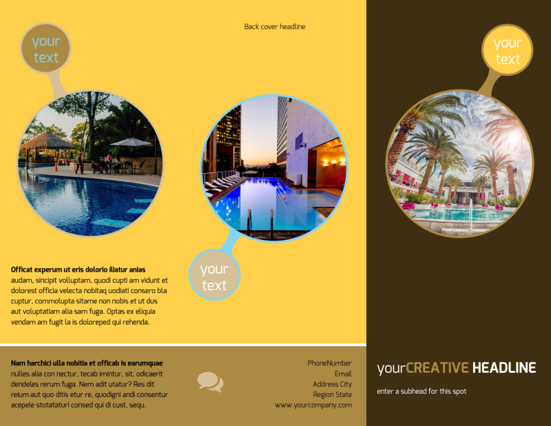 Luxury Hotel Brochure Template Preview 2