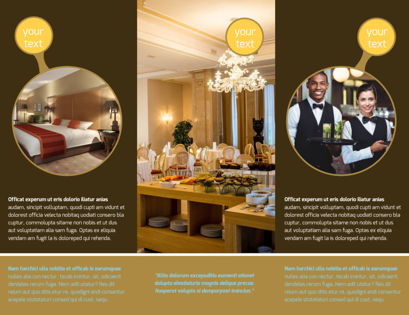 Luxury Hotel Brochure Template Preview 3