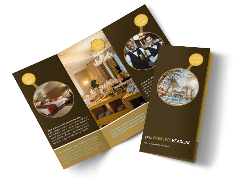 Luxury Hotel Brochure Template Preview 1