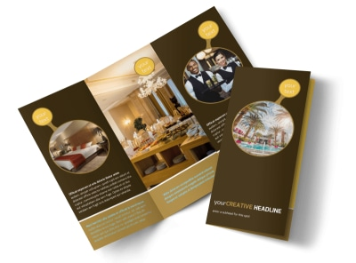 Luxury Hotel Tri-Fold Brochure Template