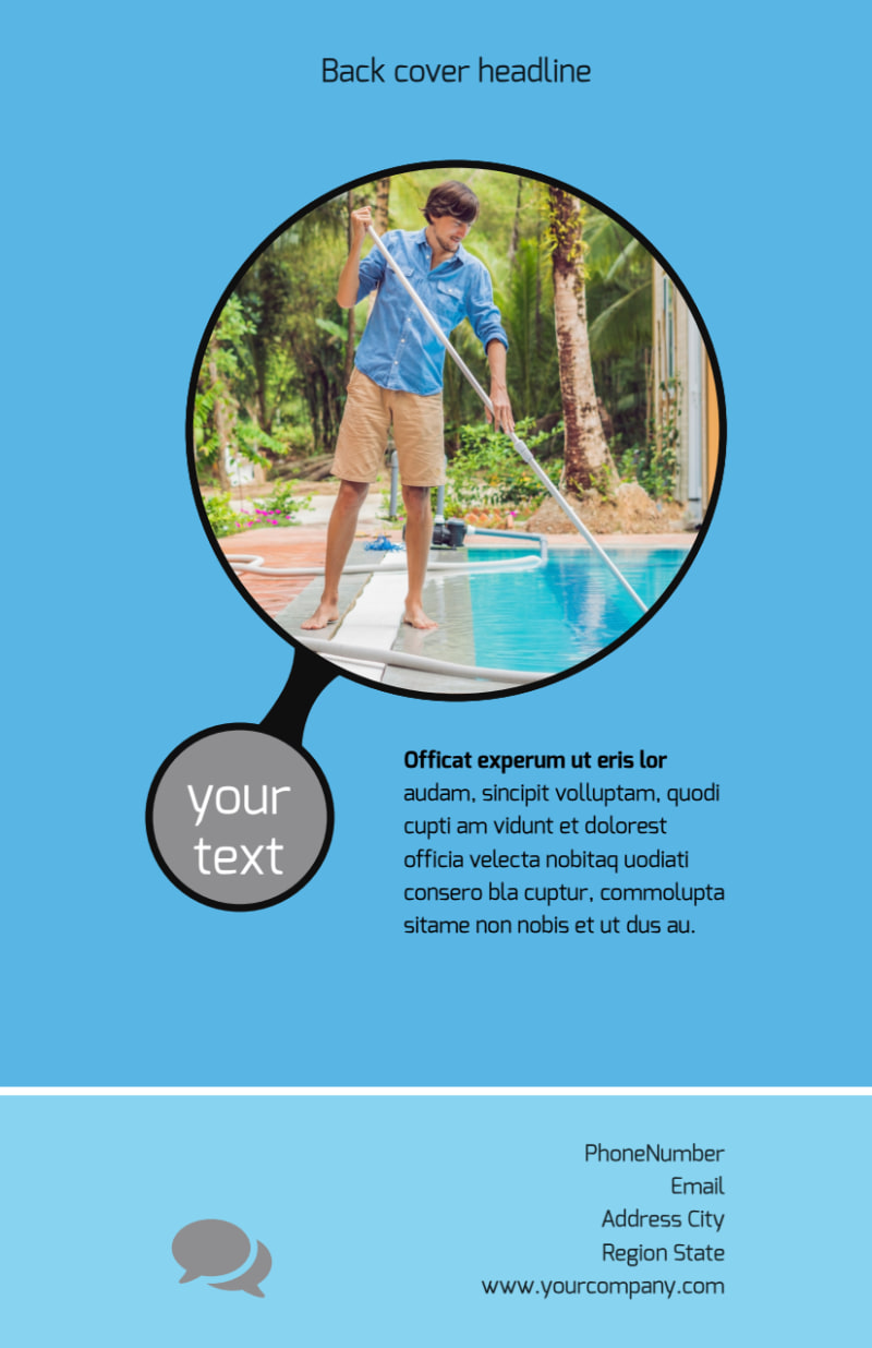 Residential Pool Cleaning Flyer Template Preview 3