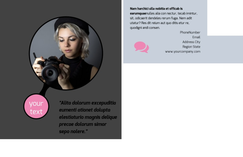 Fashion Photography Postcard Template Preview 3