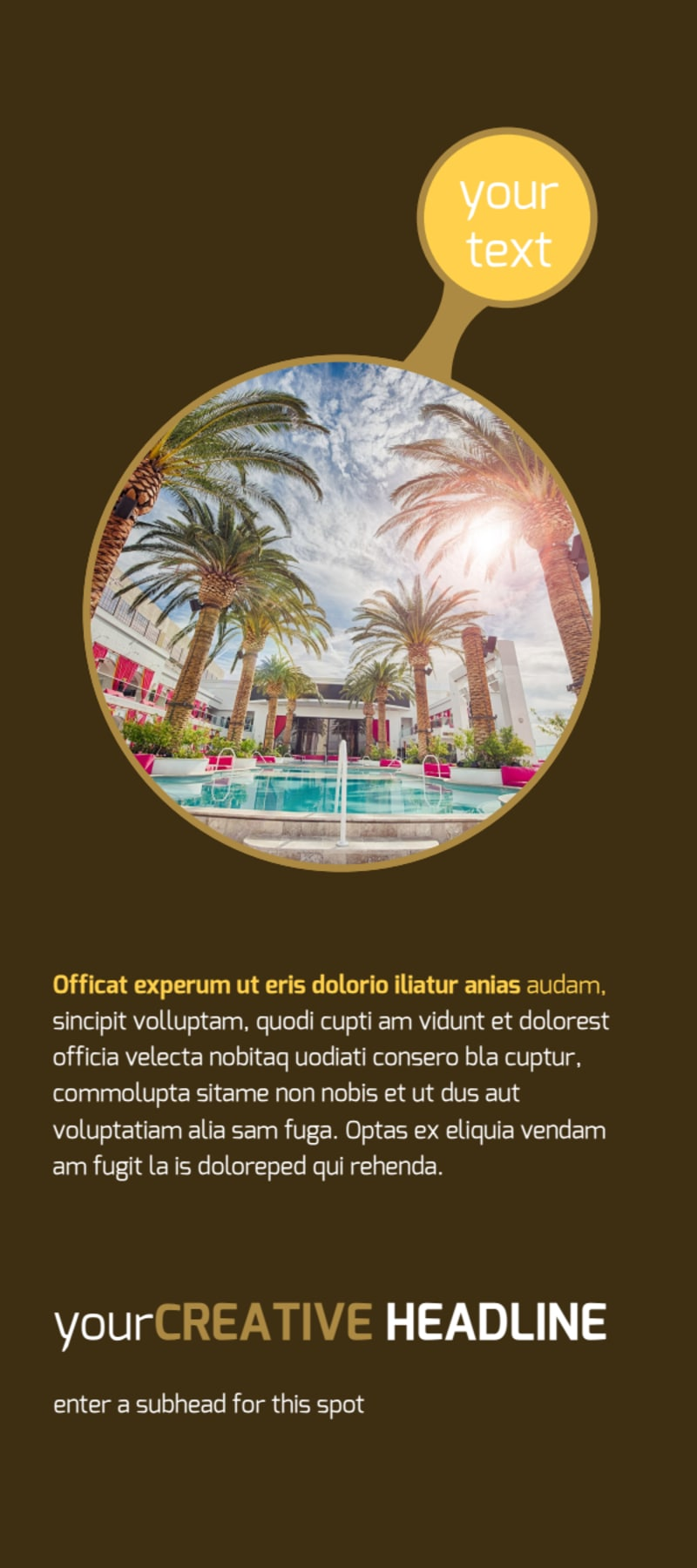 Luxury Hotel Flyer Template Preview 2