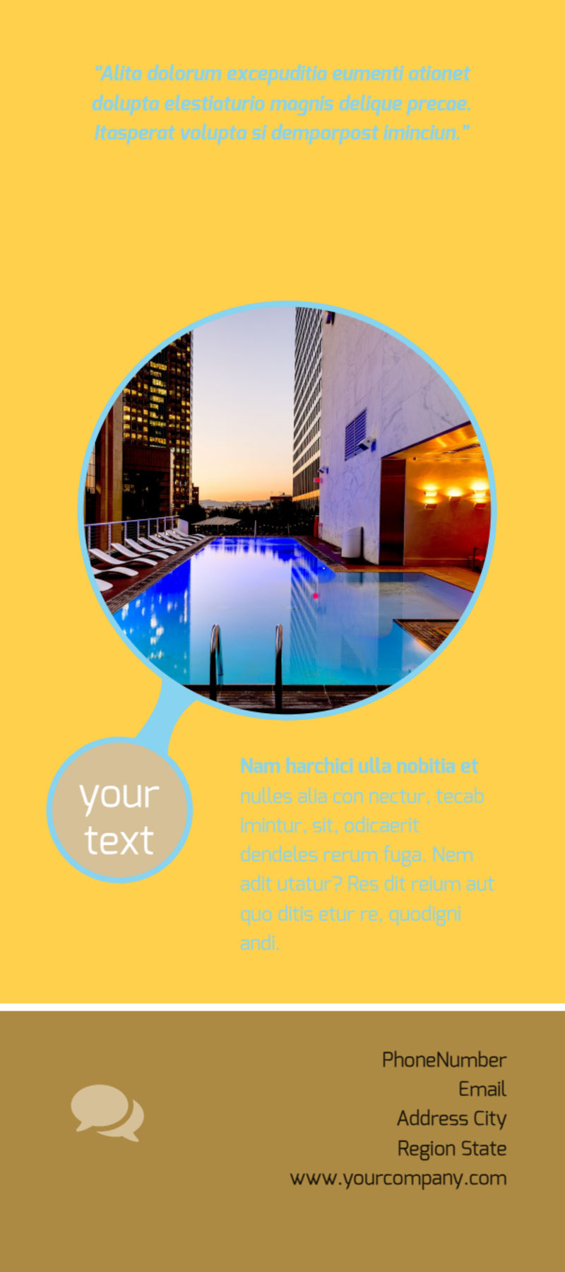 Luxury Hotel Flyer Template Preview 3