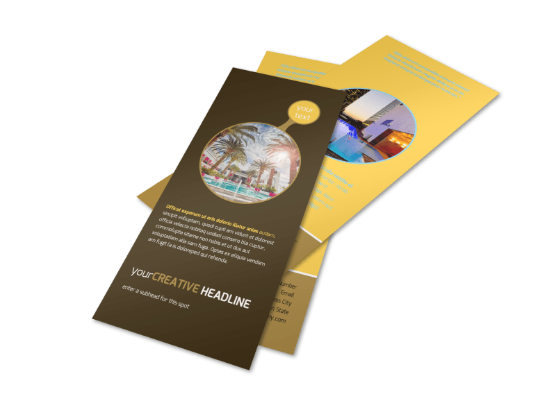 Luxury Hotel Flyer Template Preview 1