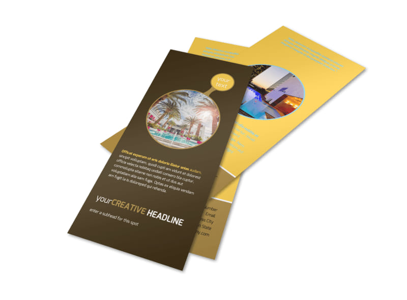 Luxury Hotel Flyer Template Preview 4