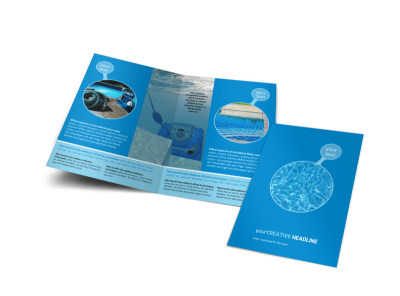 Residential Pool Cleaning Bi-Fold Brochure Template