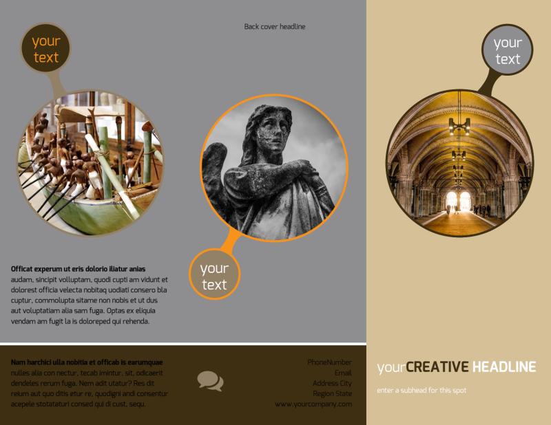 Art Museum Brochure Template Preview 2
