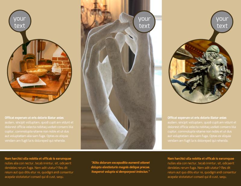 Art Museum Brochure Template Preview 3