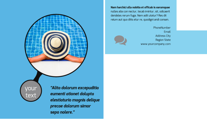 Residential Pool Cleaning Postcard Template Preview 3