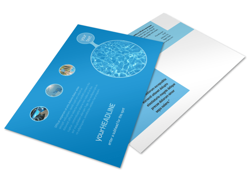 Residential Pool Cleaning Postcard Template Preview 1